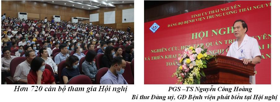 Trên 720 cán bộ, đảng viên của Đảng bộ Bệnh viện TW Thái Nguyên  được nghiên cứu, học tập, quán triệt Nghị quyết Đại hội Đại biểu toàn quốc lần thứ XIII của Đảng