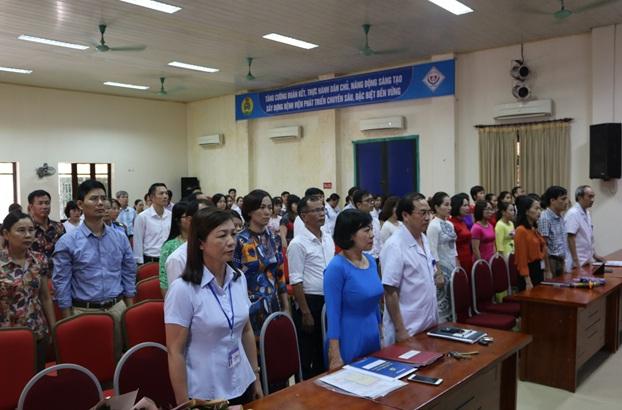 Đảng bộ Bệnh viện Trung ương Thái Nguyên tổ chức Lễ kết nạp Đảng cho 22 quần chúng ưu tú