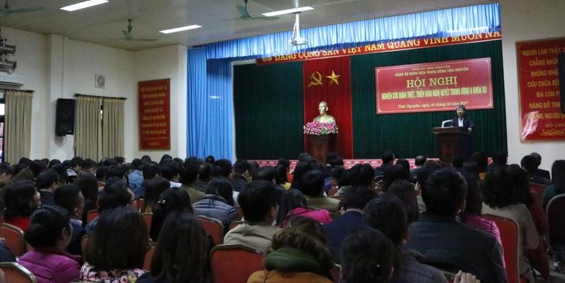 Hội nghị học tập, quán triệt và triển khai Nghị quyết Hội nghị lần thứ sáu Ban chấp hành Trung ương Đảng khóa XII
