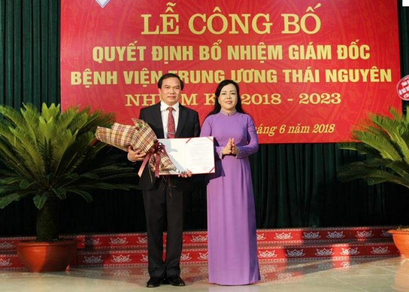 Công bố Quyết định bổ nhiệm Giám đốc Bệnh viện Trung ương Thái Nguyên