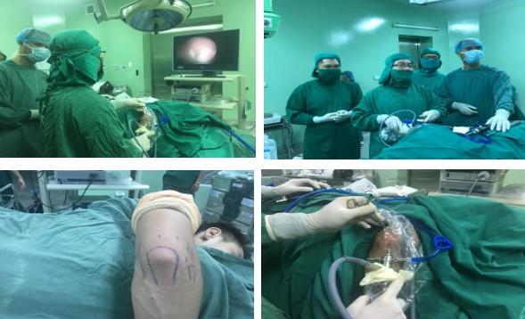 Bệnh viện Đa khoa Trung ương Thái Nguyên thực hiện thành công kỹ thuật nội soi khớp khuỷu