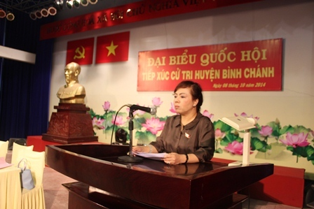 Bộ trưởng Bộ Y tế Nguyễn Thị Kim Tiến tiếp xúc cử tri tại Huyện Bình Chánh và Quận 8 TP.HCM