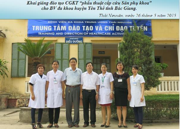 Chuyển giao kỹ thuật phẫu thuật  cấp cứu Sản phụ khoa cho Bệnh viện đa khoa huyện Yên Thế tỉnh Bắc Giang